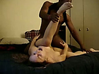 Eating Fresh White Girl And Stretching Her Pussy With BBC