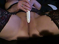 Wife In Sexy Stockings Playing With A Dildo N Private Sex Video