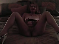 Milf Blonde Wife Pleases Herself As I Watch And Film Her
